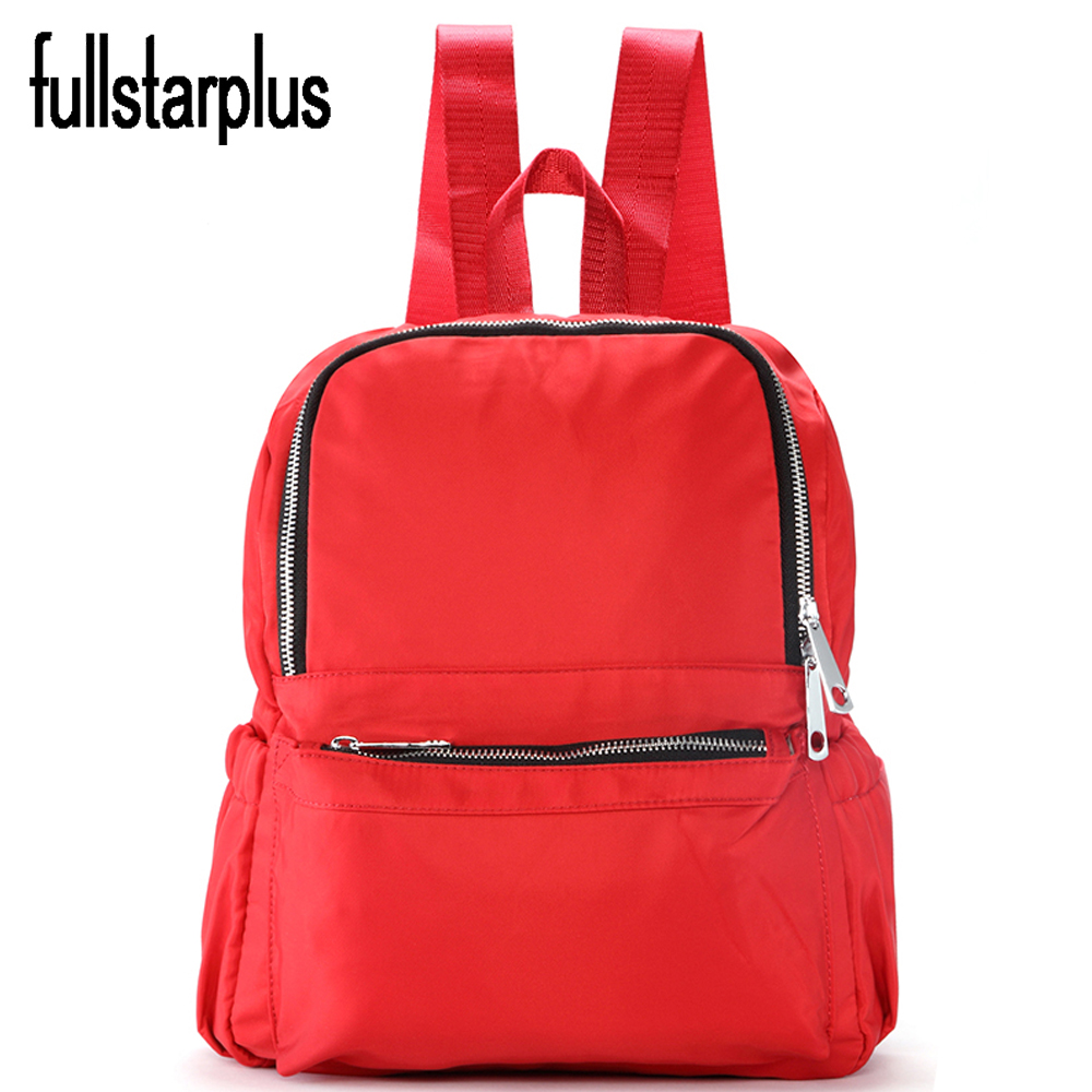 New 2017 Hot sell Zipper Adjustable size backpack High Quality Gilrs Imported nylon backpacks mochilas school