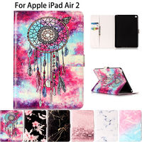Marble Pattern Silicone PU Leather Case Cover For Apple IPad Air 2 Case For IPad 6