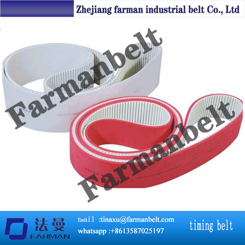 Durable PU Timing Belt with Felt for Heavy-duty Extrusion Press beck arnley 026 0244 timing belt