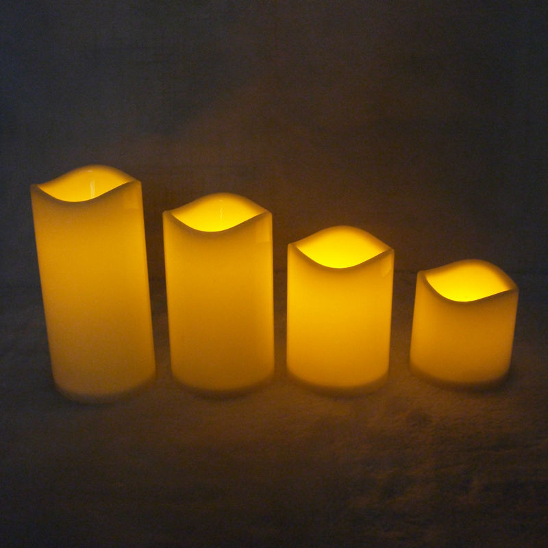 1pcs Battery Operated Led Candle Made By Paraffin Wax Candle Lamp For Christmas Decorative,wedding Decoration,Halloween