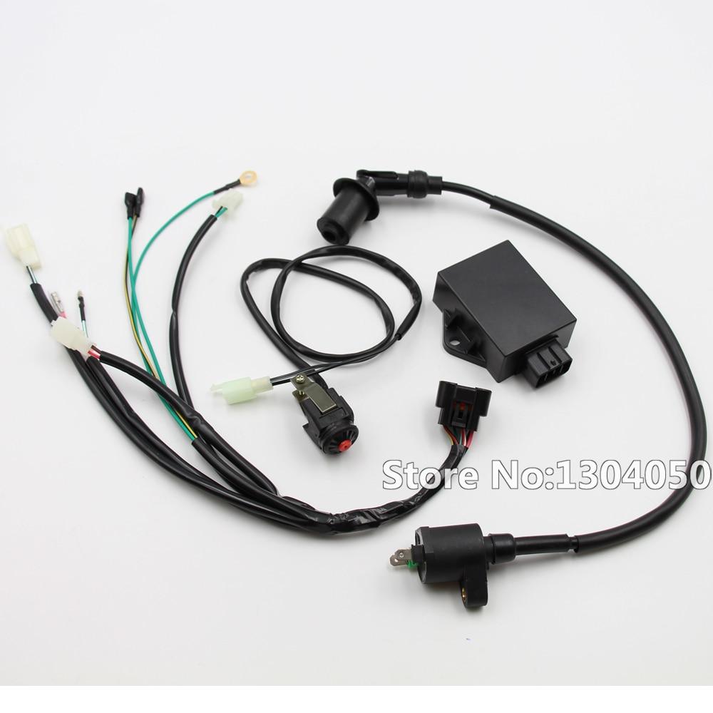 complete kick start engine wire wiring harness loom cdi coil kill switch kits for lifan w150cc zs155cc pit pro trail dirt bike [ 1000 x 1000 Pixel ]