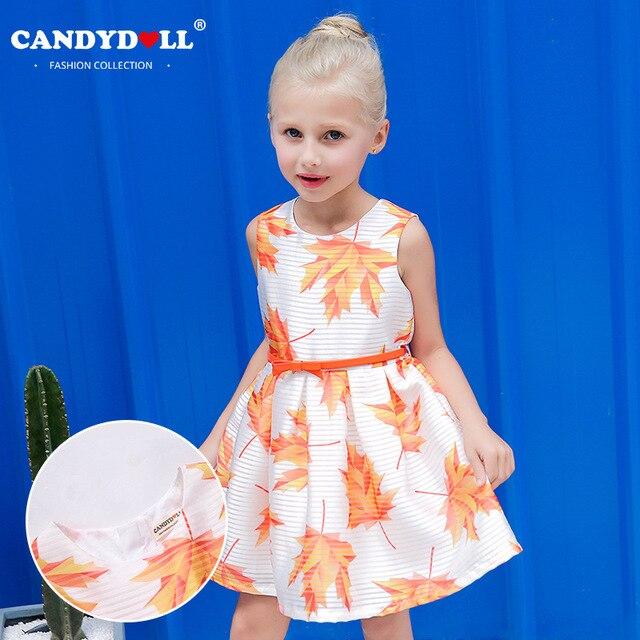 9fed205c73b Candydoll 2017 Children Girls Dresses Summer Sleeveless Princess Dress Baby  Girls Stripe Jacquard Fabric Dress 3-10Y SAJ3159