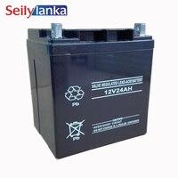 12V 24AH Battery Sealed Storage Batteries Lead Acid Rechargeable for Desk Lamp LED Flashligh Solar system