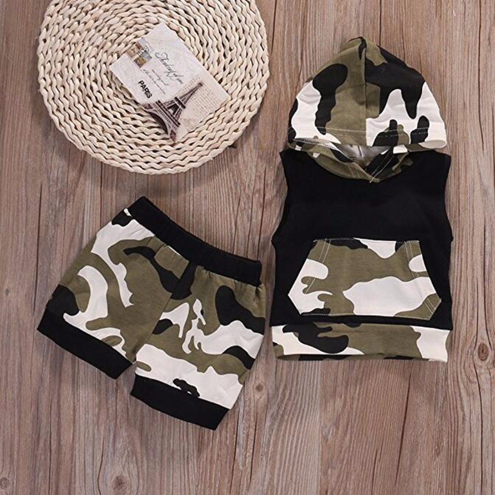 610a815237ef Puseky Newborn Infant Baby Boy Girl Clothes Cool Design Camouflage ...