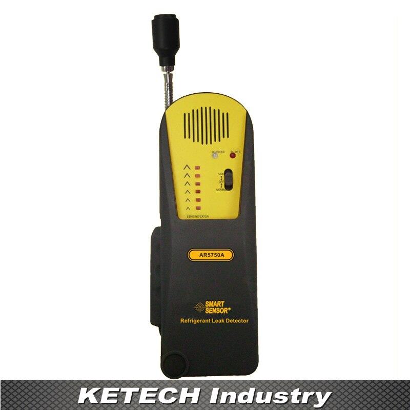 AR5750A Refrigeration Halogen Gas Detector, Halogen Gas Leak Detection ultrasonic leak detector 40khz ultrasonic transmitter reliable detection gas leak detector led indicator all sun em282