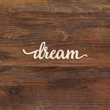 Dream Script Wood Sign Art Laser Cut Wall Decoration Bedroom Nursery Rustic Gallery Signs