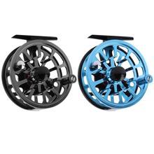2 renk 85mm Işlenmiş Alüminyum Sinek Balıkçılık Reel Mikro Ayarlama Sürükle Açık Araçları Balıkçılık Makaraları 2 Tip