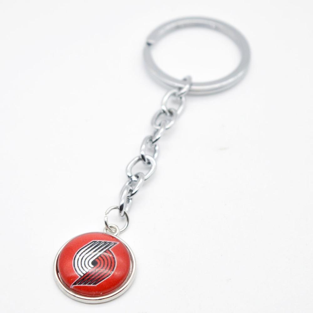 2018 New Keychain Portland Trail Blazers Charm Key Chain Car Keyring for Women Men Gifts Basketball Fan Jewelry