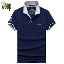 2017 spring and summer AFS JEEP Battlefield Jeep new men's polo shirt short-sleeved solid color stretch polo shirt men 50