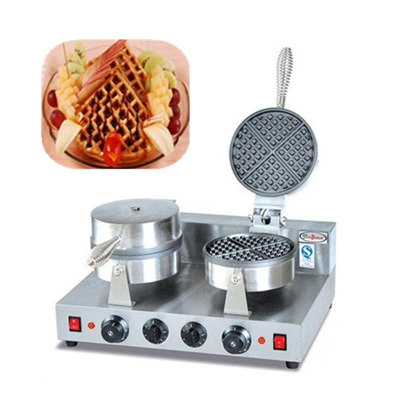 220v small household waffle maker electric waffle baking machine  цены