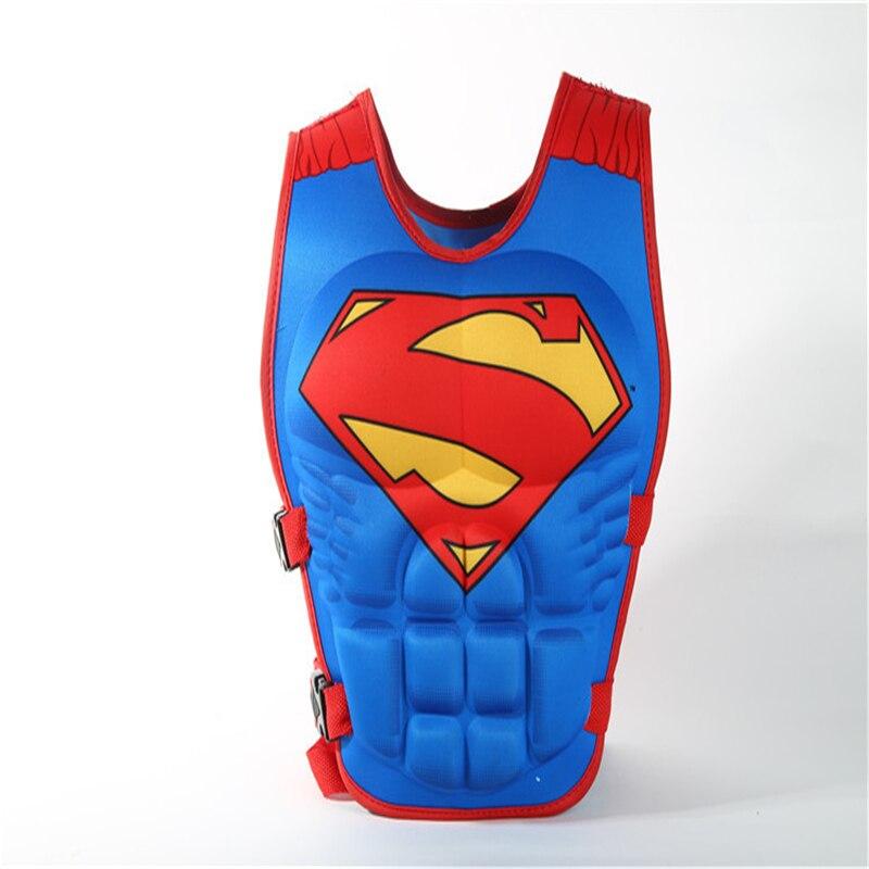 New children's cosplay cartoon life jacket boy Spiderman Superman 3D vest sunscreen floating power swimwear jacket