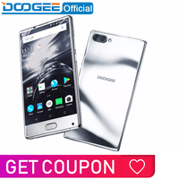 DOOGEE MIX bezel less mirror silver Smartphone Dual Camera 5.5'' AMOLED MTK Helio P25 Octa Core 6GB+64GB Android 7 mobile phone