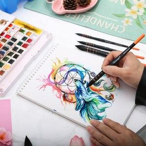 Image 5 - Dainayw 4 Pinsel Eichhörnchen Haar & Pferd Haar Kunst Malerei Pinsel Künstlerische Aquarell Pinsel Set für Gouache Waschen Mopp Kunst malerei