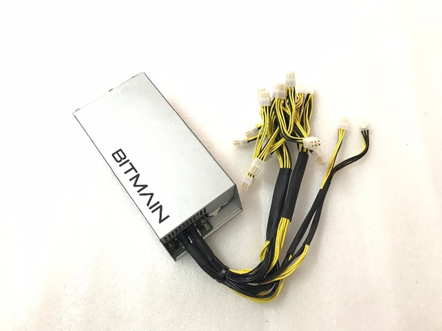 Free shipping Antminer S9 APW3-12-1600-A5 Bitcoin&Litecoin mining power 1600W ANTMINER S7/S5/S4/S4+ 12V PSU with 18PCS 6pin