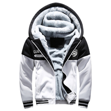 Men Ski Jacket Spring Autumn Winter Sports Hooded Zipper Sweater Plus Thick Velvet Ski Jacket For Men Szie M L XL 2XL 3XL 4X 5XL