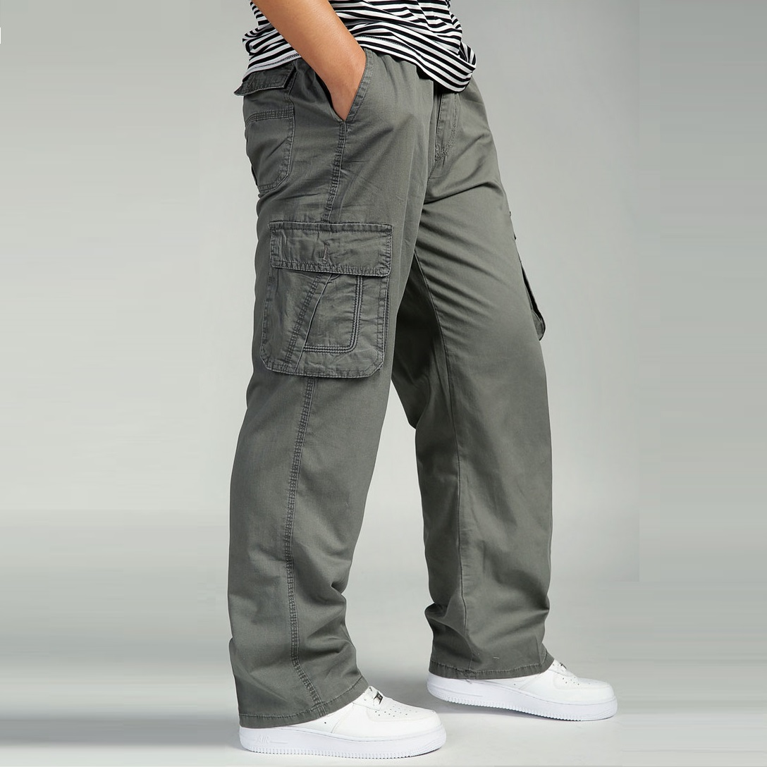 Image 3 - Summer Men's Plus Size Clothing 4XL 5XL 6XL Cargo Pants Big Tall Men Casual Many Pockets Loose Work Pants Male Straight Trousers-in Cargo Pants from Men's Clothing