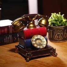 Американский ретро телефон украшения дома гостиной винный шкаф крыльцо украшения окна ТВ шкаф рабочего стола креативная мебель