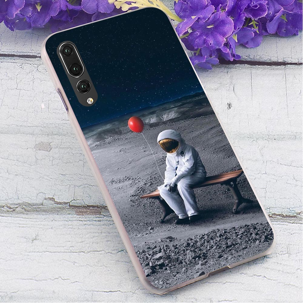 Sun Moon Hard Cover for Huawei P9 Lite 2017 Hybrid Phone Case for Huawei P20 Pro P Smart 2019 Mate 10 Lite Cases Skin in Fitted Cases from Cellphones Telecommunications