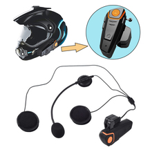 2 Motorcycle Riders Bluetooth Helmet 0.8-1KM Intercom Headset Waterproof Noise Reduction GPS Voice Radio FM With MIC