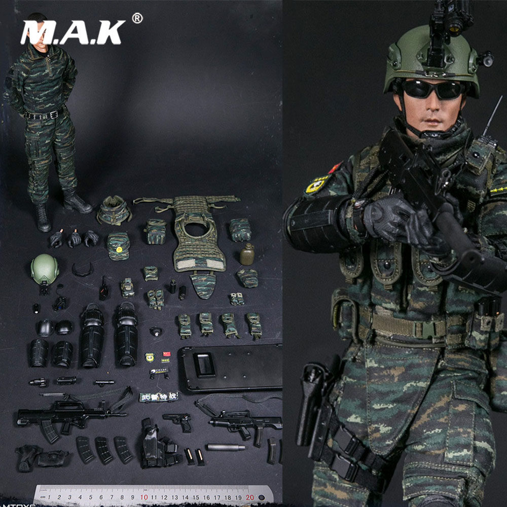 1/6 Full Set Military Soldier Action Figure 78053 Chinese People's Armed Police Force SNOW LEOPARD Squadron COMMANDO UNIT TEAM