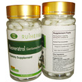 1 Botellas de Resveratrol Extracto de la Cápsula de 500 mg x 90 unids para Máximo Apoyo Anti-Envejecimiento, estimular el Sistema Inmunológico y la Salud Del Corazón