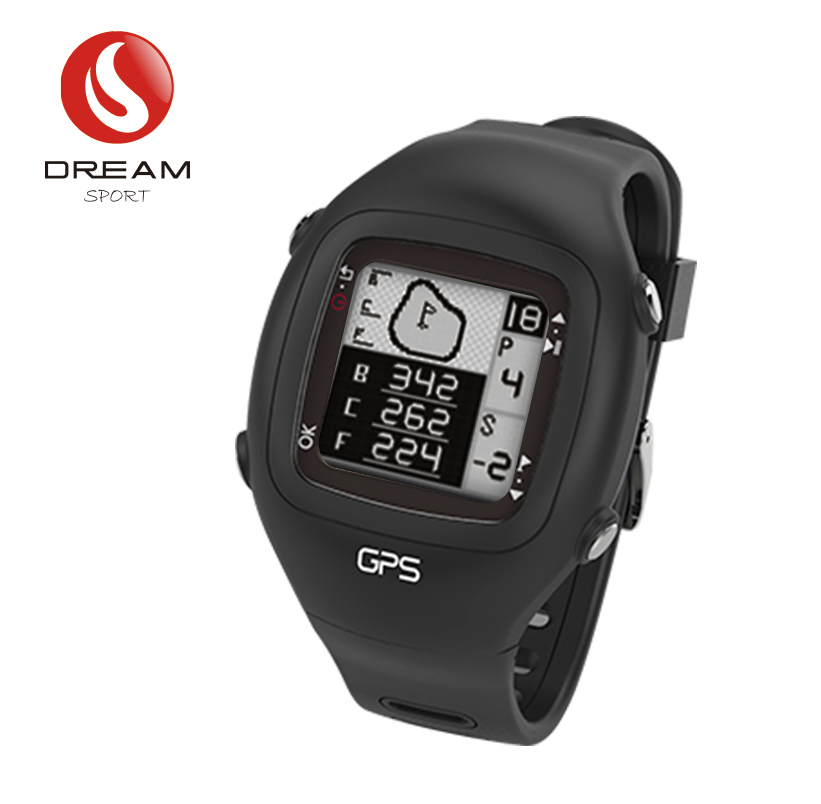 Dream Sport GPS Golf Watch With 30000 Plus World Wide Golf Course New Color Black simulation mini golf course display toy set with golf club ball flag