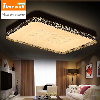 KM European Modern Style Ceiling Light Led With Remote Controller Modernas Luminarias Teto Rectangle Round Flower Shade LightingKM European Modern Style Ceiling Light Led With Remote Controller Modernas Luminarias Teto Rectangle Round Flower Shade Lighting