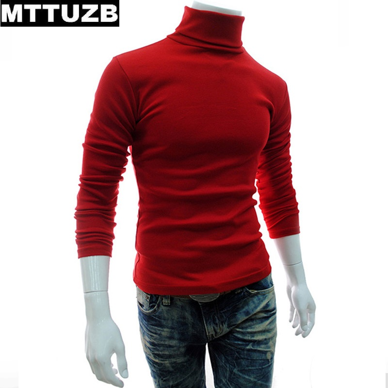 MTTUZB Autumn winter men fashion solid color sweaters men s casual long sleeve pullovers man knitted