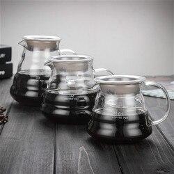Carafe drip 커피 포트 360ml 600ml 800ml v60 유리 레인지 커피 서버 커피 주전자 브루어 바리 스타 퍼콜 레이터 클리어