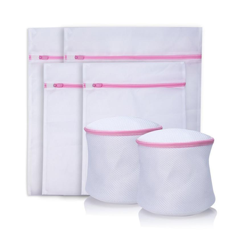 Laundry Bags Underwear Aid Bra Socks Lingerie Laundry Washing Machine Mesh Bag White laundry bag May21