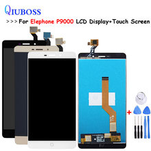 Für Elefon P9000 LCD Display + Touch Screen Grau/Weiß Für p9000 lite lcd Digitizer Sensor Glas Panel + kostenlose tools(China)