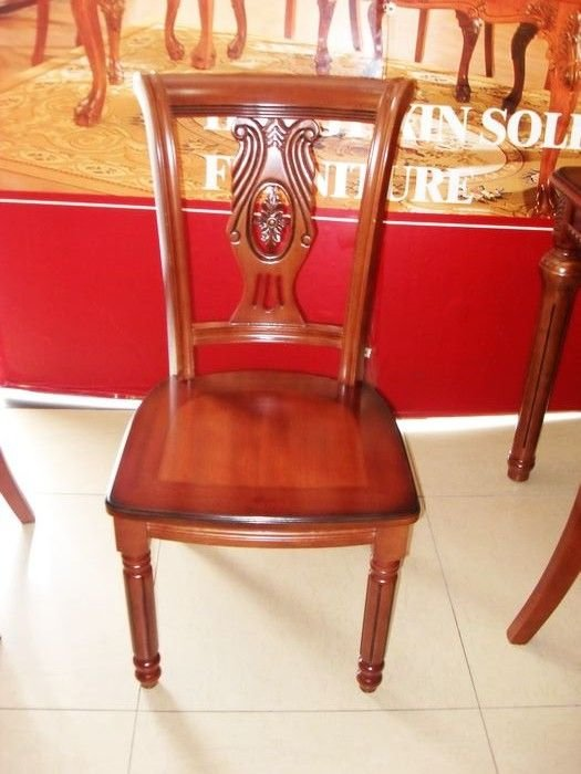 Continental solid wood dining chair hotel chair dining for Chair 9 hotel