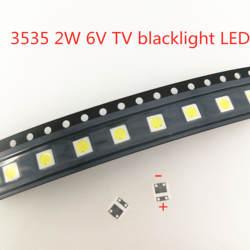 50-1000 шт 2 Вт 6 в 3 в 1 Вт 3535 SMD светодиодный заменить LG Innotek ЖК-Телевизор задний свет бусины ТВ подсветка диод ремонт применение
