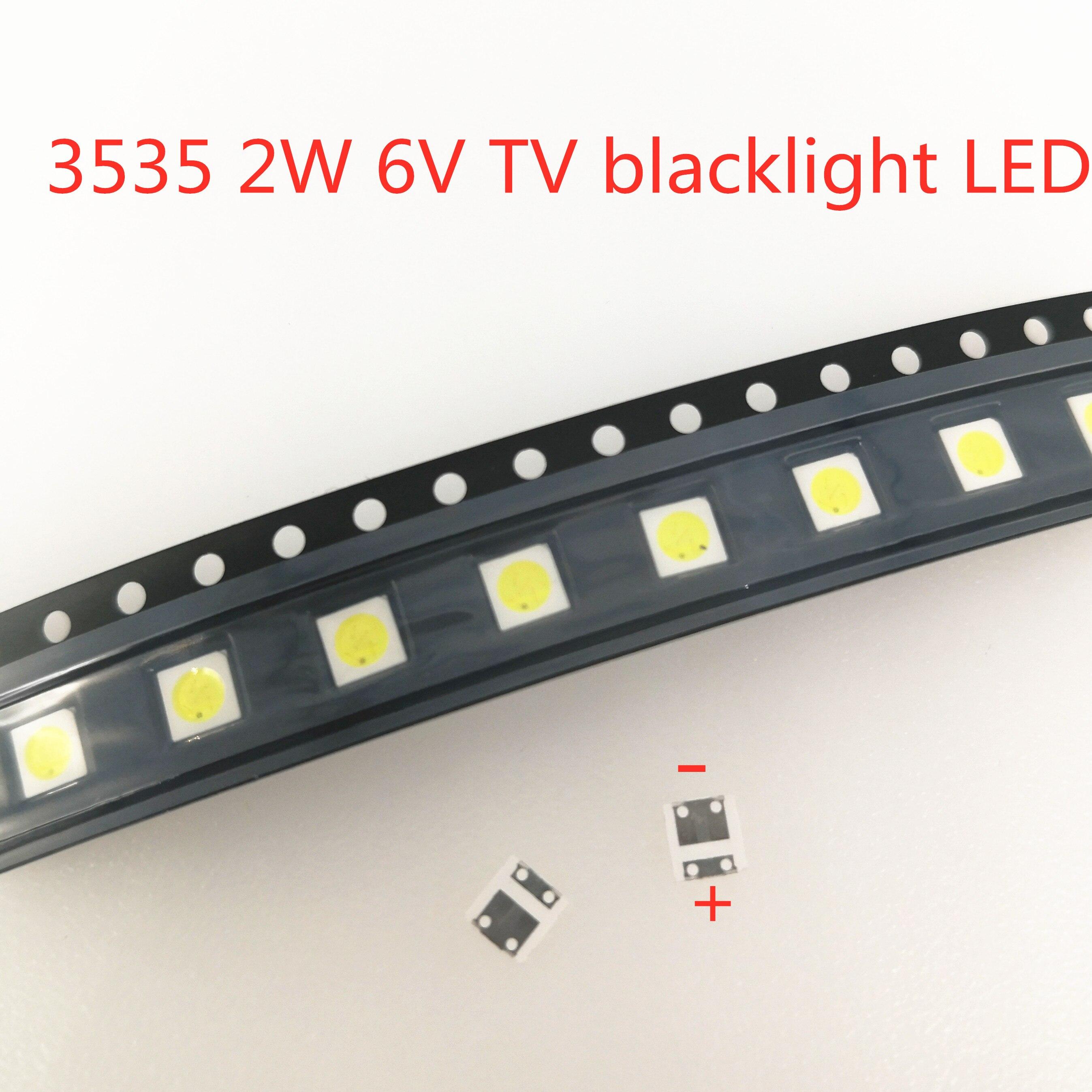 50-1000 pièces 2W 6V 3V 1W 3535 SMD LED remplacer LG Innotek LCD TV rétro-éclairage perles TV rétro-éclairage Diode Application de réparation
