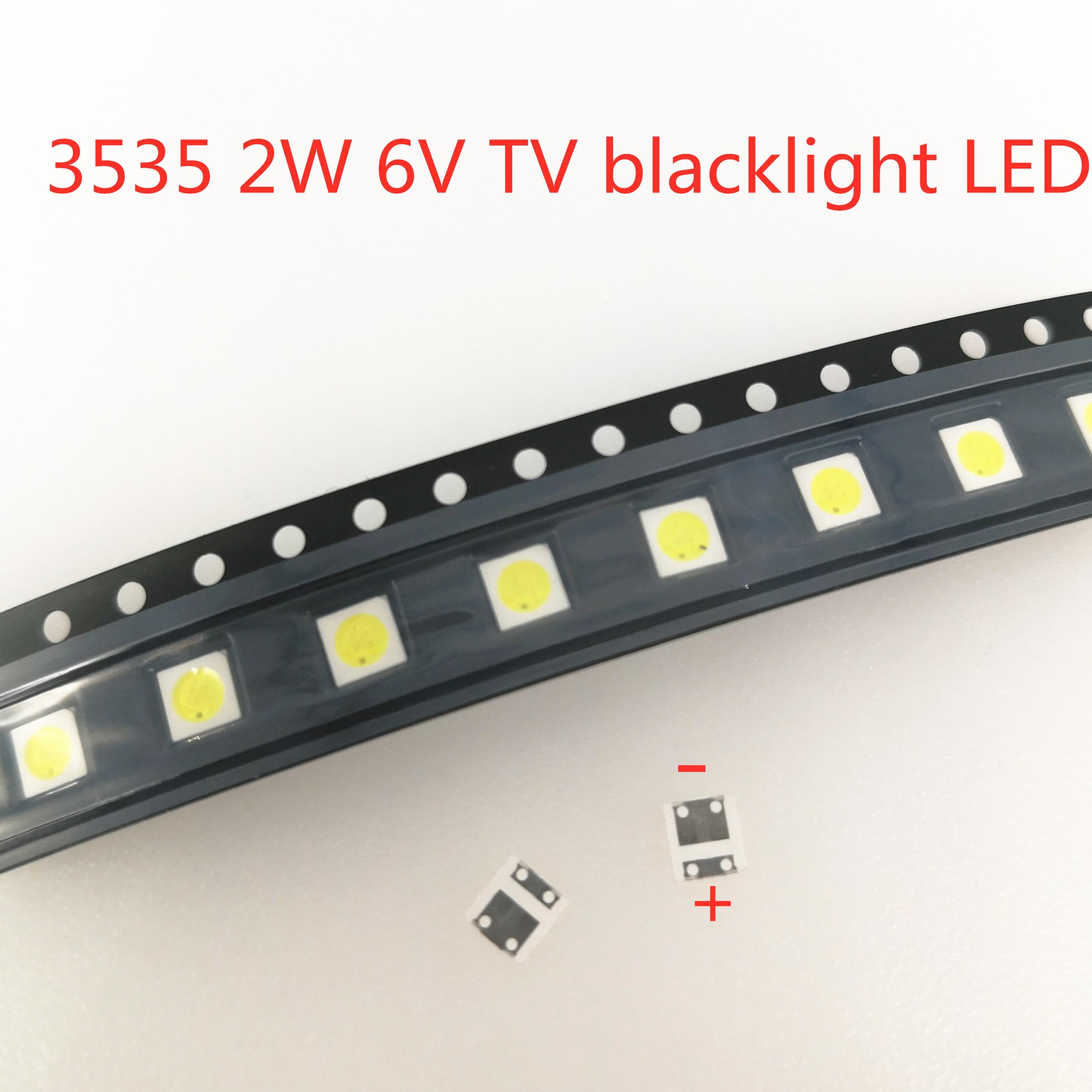 50-1000PCS 2W 6V 3V 1W 3535 SMD Substituir LG Innotek TV LCD voltar Contas de Luz TV Reparação Backlight Diodo Aplicação