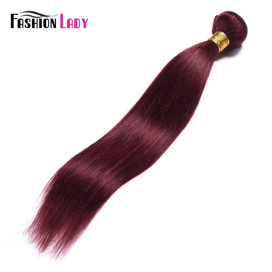 Fashion Lady Pre-colored Raw Indian Hair Bundles Straight Hair Human Hair Bundles 99j Weave 1 Piece Hair Weaving Non-remy