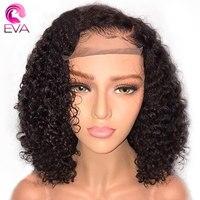 ЕВА волос короткий Боб Full Lace натуральные волосы парики с ребенка волосы бразильских Волосы remy полное кружева фигурные парики предварительн