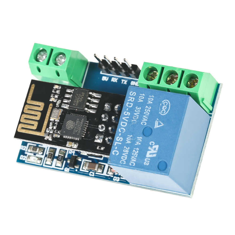 Placa de módulo de relé Wi-Fi profesional ESP8266 5V IOT Smart Home Control remoto de la aplicación del teléfono móvil