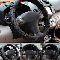 AutoDecorun Faux Sheep Car Wheel Steering Cover For Nissan Murano Qashqai Sunny Patrol Quest CIMA Cars Steering Cover Wheel Hubs