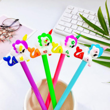 1pc Kawaii Unicorn Mermaid Gel Pen Cartoon Student Creative Stationery Black Water Office School Supplies Cute