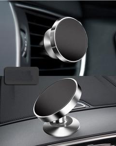 Image 4 - Magnetische Auto Handy Halter Automotive Air Vent Halterung Telefon Ständer Magnet Auto Dashboard Smartphone Unterstützung Halterung Zubehör