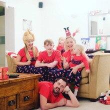 Семейный Рождественский пижамный комплект, теплые взрослые дети девочки мальчик, мама, одежда для сна, одежда для мамы и дочки, Прямая поставка, одинаковые комплекты для семьи