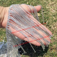 1 pack/lot luxurious rhinestone fringes 16.5cm long tassel crystal chain for dress shoulders dangle trims for garments and bags