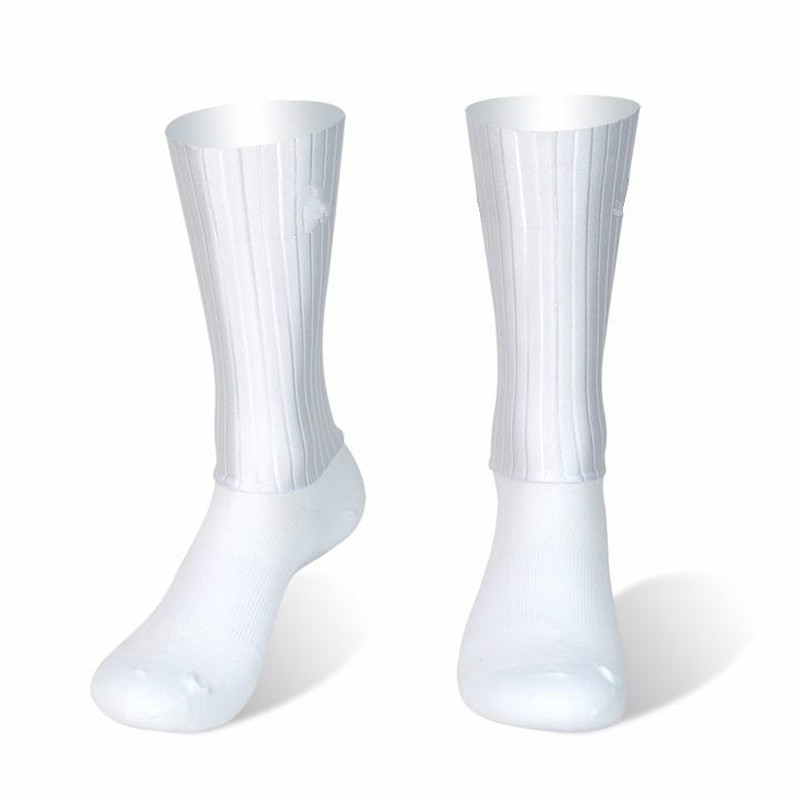 Running Bike Socks Bicycle Calcetines Anti-Slip Whiteline Sport Silicone Summer Ciclismo