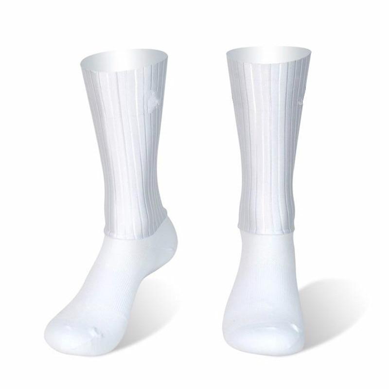 Anti Slip Silicone Summer Aero Socks Whiteline Cycling Socks Men Bicycle Sport Running Bike Socks Calcetines Ciclismo