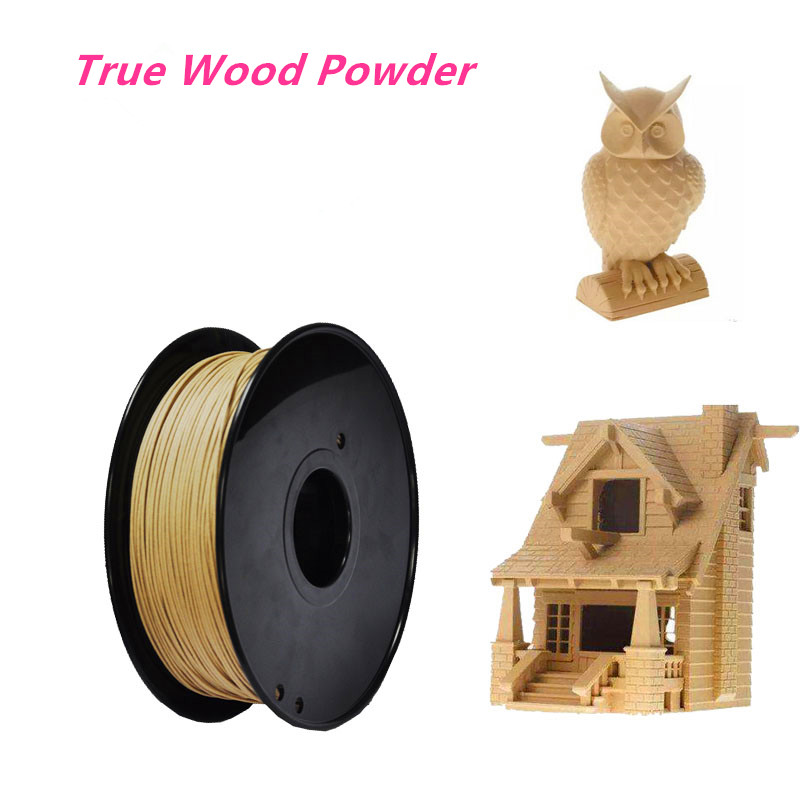 Wood PLA 3D Printer Filament 1.75/3.0mm 1KG Good Wooden Effect 3D Printing Material with True Wood Powder for MakerBotWood PLA 3D Printer Filament 1.75/3.0mm 1KG Good Wooden Effect 3D Printing Material with True Wood Powder for MakerBot