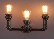 3 Голов Американский Village Loft Промышленного Эдисон Стиль Старинные Стены Света Лампы, ретро Водопровод Лампы Бра