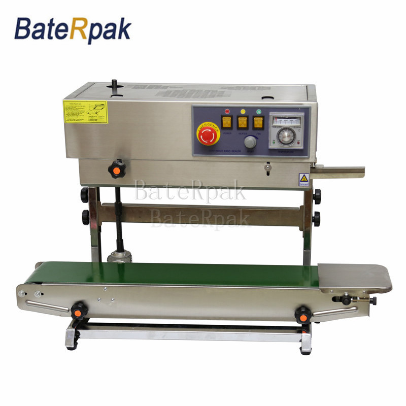 FR-770 Vertical BateRpak Continuous band sealer,stainless steel heat sealing machine(220V/50Hz)Plastic bag Welders 1100 15 0 2mm baterpak band sealer teflon belt p t f e resin products seamless ring tape frd band sealer parts 50pc bag
