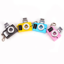 Dolls accessories keychains creative Camera Led with Sound LED flashlight funny toy camera gift for child q7 цена