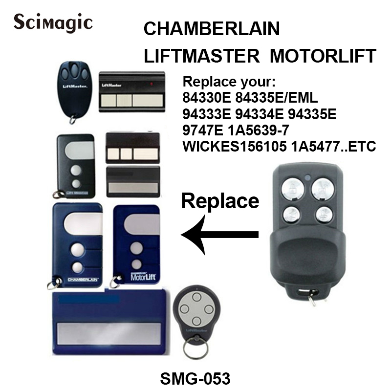 replacement liftmaster chamberlain 94335e 84330eml wickes 156105 remote control rolling code 433. Black Bedroom Furniture Sets. Home Design Ideas